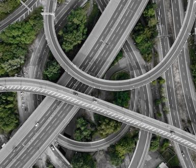 Spaghetti junction in Birmingham - so called becaseu there are so many roads on top of each other