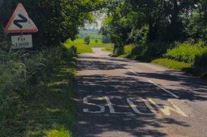 winding road across flat landscape