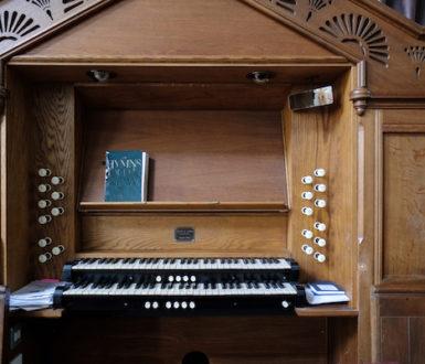 A church organ